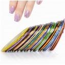 kit x12 Cintas decorativas Nail Art Tirillas adhesivas manicure Uñas