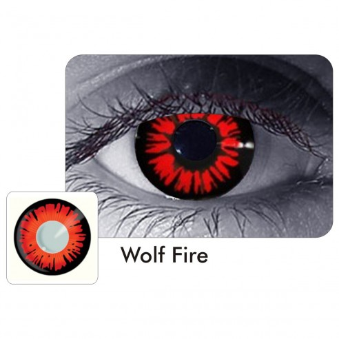 Lentes Locos de Wolf Fire Crazy Lentes Halloween Disfraz Brujas