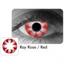 Lentes Halloween Crazy Ray Rose Red Rayo Centella