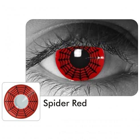 Lentes Locos Spider Red Crazy Lentes Halloween Disfraz Brujas