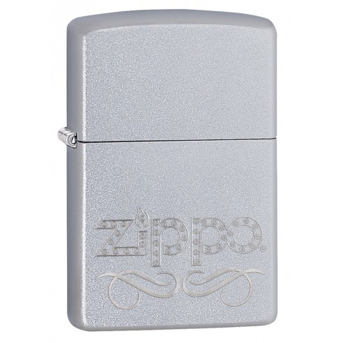 Encendedor Zippo Texture Scroll satin chrome