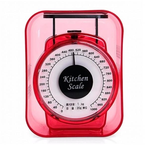 Balanza Roja para dietas Gramera análoga de cocina 1000grs