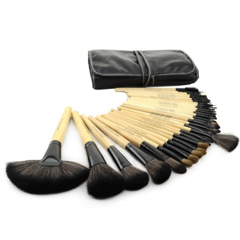 Set de 32 brochas y pinceles para maquillaje profesional