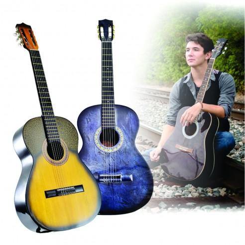 Guitarra Acustica Redonda La Clasica Finas Maderas Con Boquete