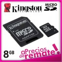 8gb Memoria Microsd Kingston Micro Sd y adapt a SD8GB
