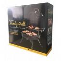 Asador al carbón Parrilla Portátil camping BBQ y sobre mesa de acero