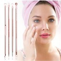 Set x4 Herramientas para remover espinillas y acné, Limpieza facil de puntos negros