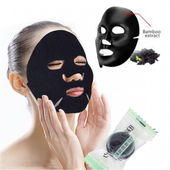Toallita Mascarilla Facial Bamboo Charcoal anti acné y grasa