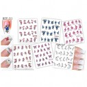 Kit Tatto para uñas stickers al algua Nail