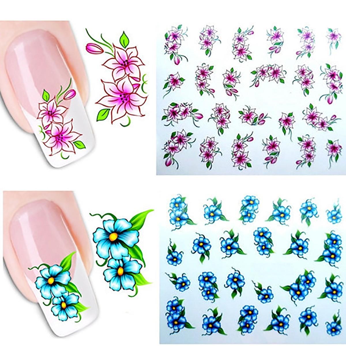 Kit De Tatto Mariposas Para Uñas Stickers Al Algua Nail