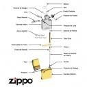 Encendedor Zippo Stamp Yin Yang 2 Lighter 29423 Black Matte - Negro