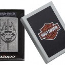 Encendedor Zippo Texture Hd Harley Davidson Antique Plate 29280 Sliver - Plateado