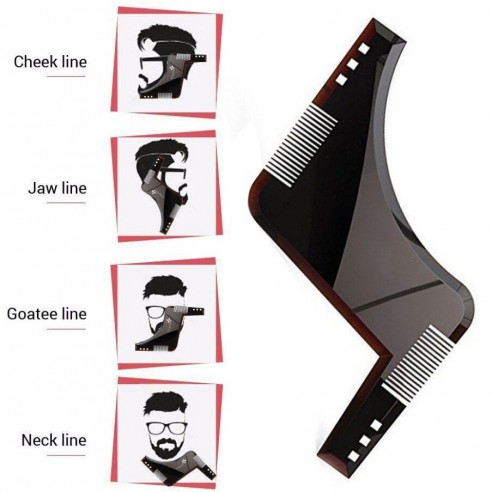 Peine Barba Molde Guía Plantilla Modelado Forma Afeitado Todo-en-uno