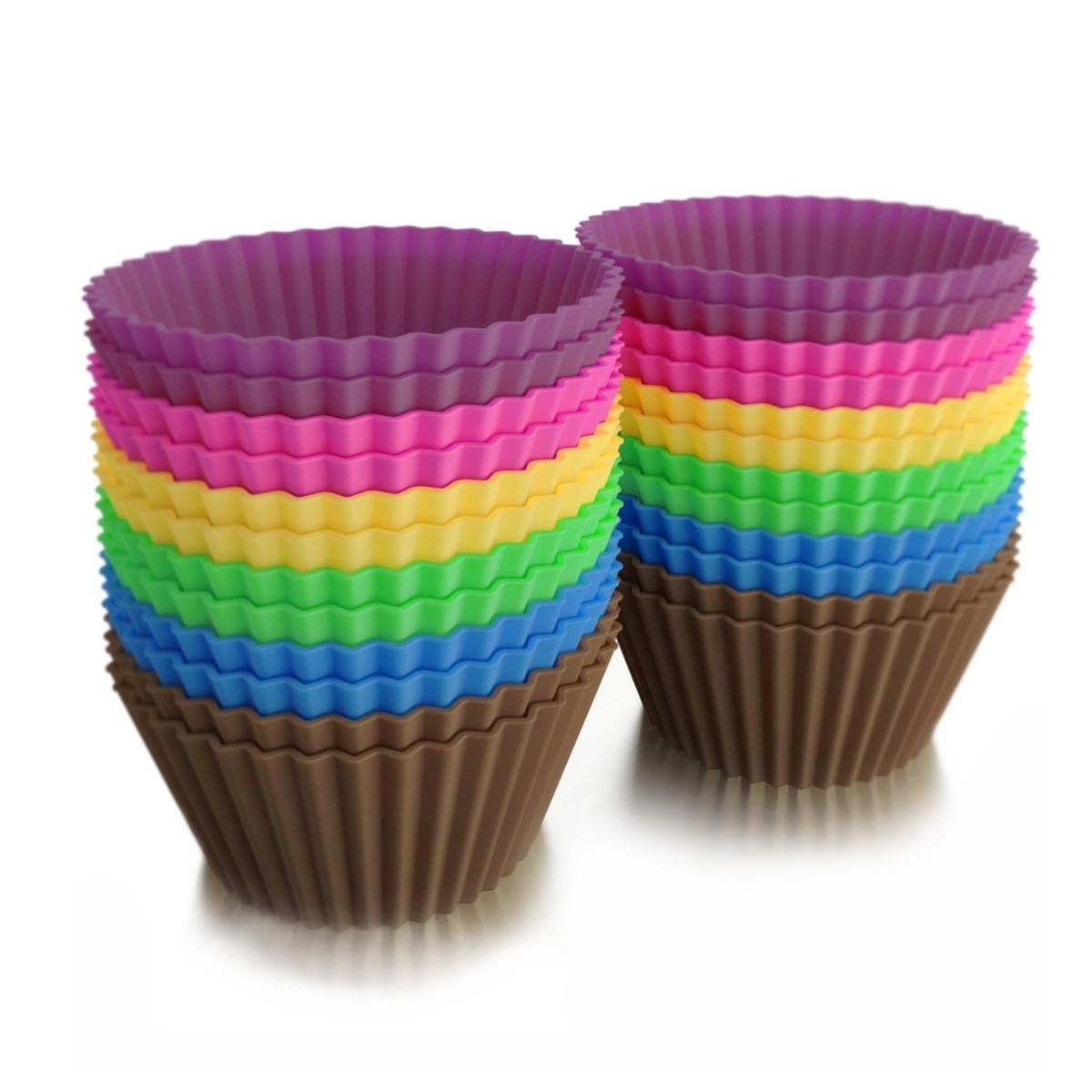 Set x 6 moldes de silicona para cupcakes muffin magdalenas - Moldes cupcakes silicona ...