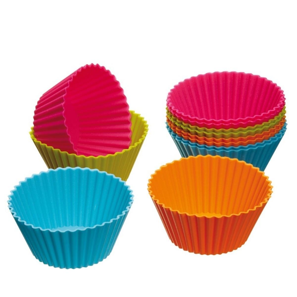 Set x 6 moldes de silicona para cupcakes muffin magdalenas - Utensilios de silicona para cocina ...