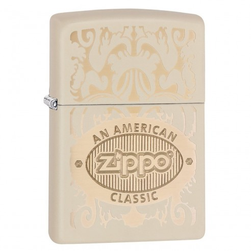 Encendedor Zippo Texture American Classic Cream - Crema