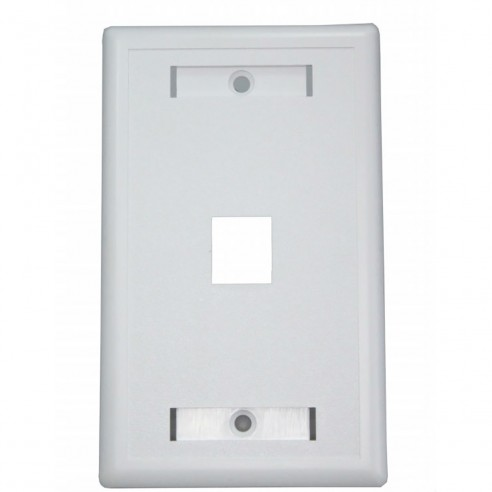 Tapa Face Plate Sencillo en ABC para Red RJ45