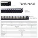 Patch Panel Cat 6 de 24 Puertos 1U Powest