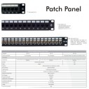 Patch Panel Cat 6A de 24 Puertos 1U Powest
