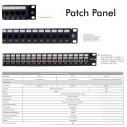 Port Panel Cat 5E 6 6A de 24 Puertos Powest