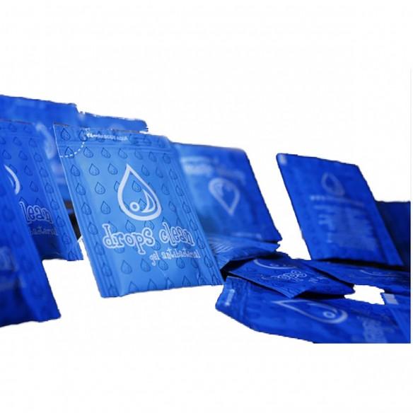 Gel AntiBacterial Drops Clean limpia tus manos paq. x 1000 sachets