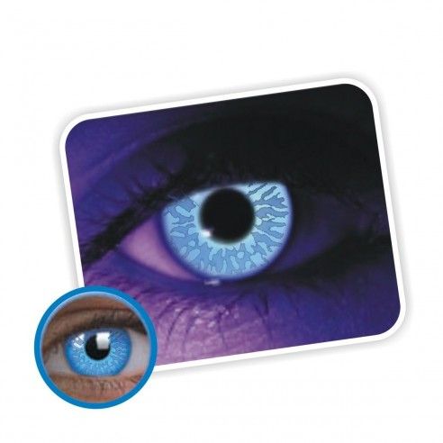 Lentes de contacto de Neón Blue Magic Flash Brilla en la Disco Blue