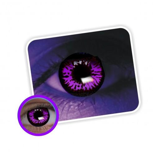 Lentes contacto UV Glow Crazy Neón Magic Violeta