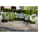 Pack x 6 unidades de Vasos Reciclados EseLatino .. deja huella posiva !!