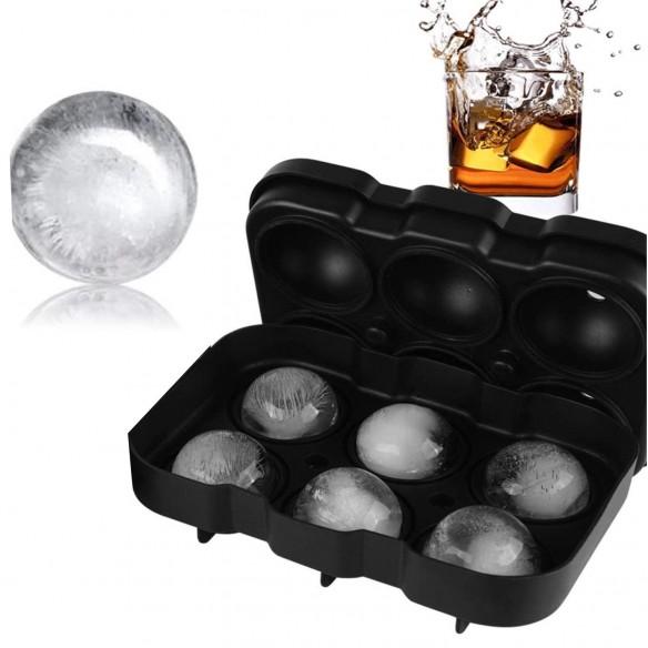 Molde Silicona elabora 6 esferas de hielo de 5cm