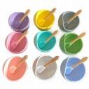 Plato Succión Bowl tazón + cuchara Anti-derrame Comida Bebé Niño