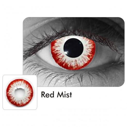 Lentes de Contacto Red Mist Sarah Demon Rojo