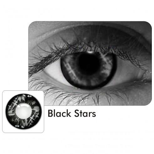 Lentes de Contacto Stars Black Crazy Brillance Estrellas