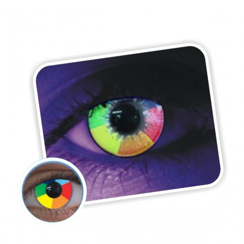 Lentes contacto UV Glow Neón Magic Brilla Disco