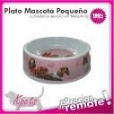 Comedero Pequeño para mascotas plato en melamina con diseño Circular