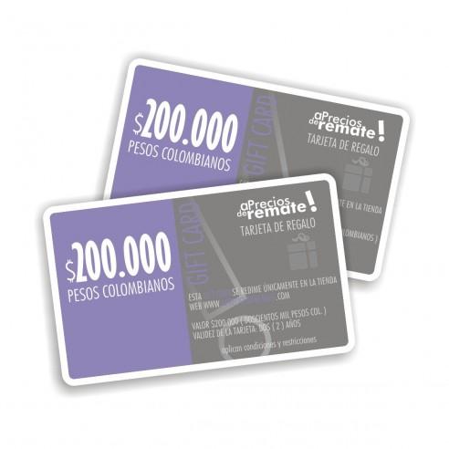 Tarjeta de Regalo 200.000 pesos, Gift Card El obsequio perfecto