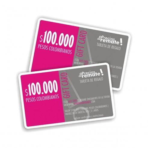 Tarjeta de Regalo 100.000 pesos, Gift Card El obsequio perfecto