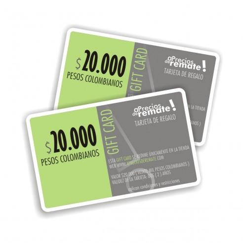 Tarjeta de Regalo 20.000 Pesos Gift Card El obsequio perfecto