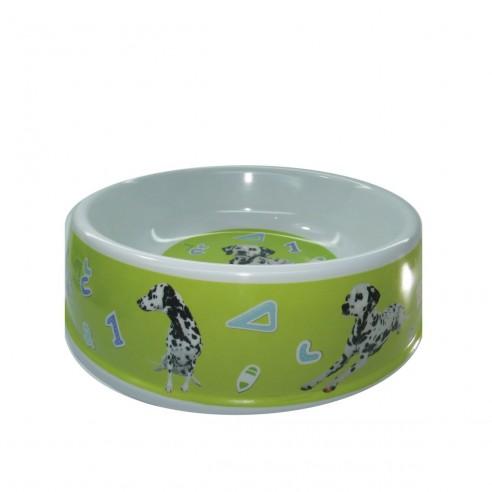 Comedero Mediano para mascotas plato en melamina con diseño Circular