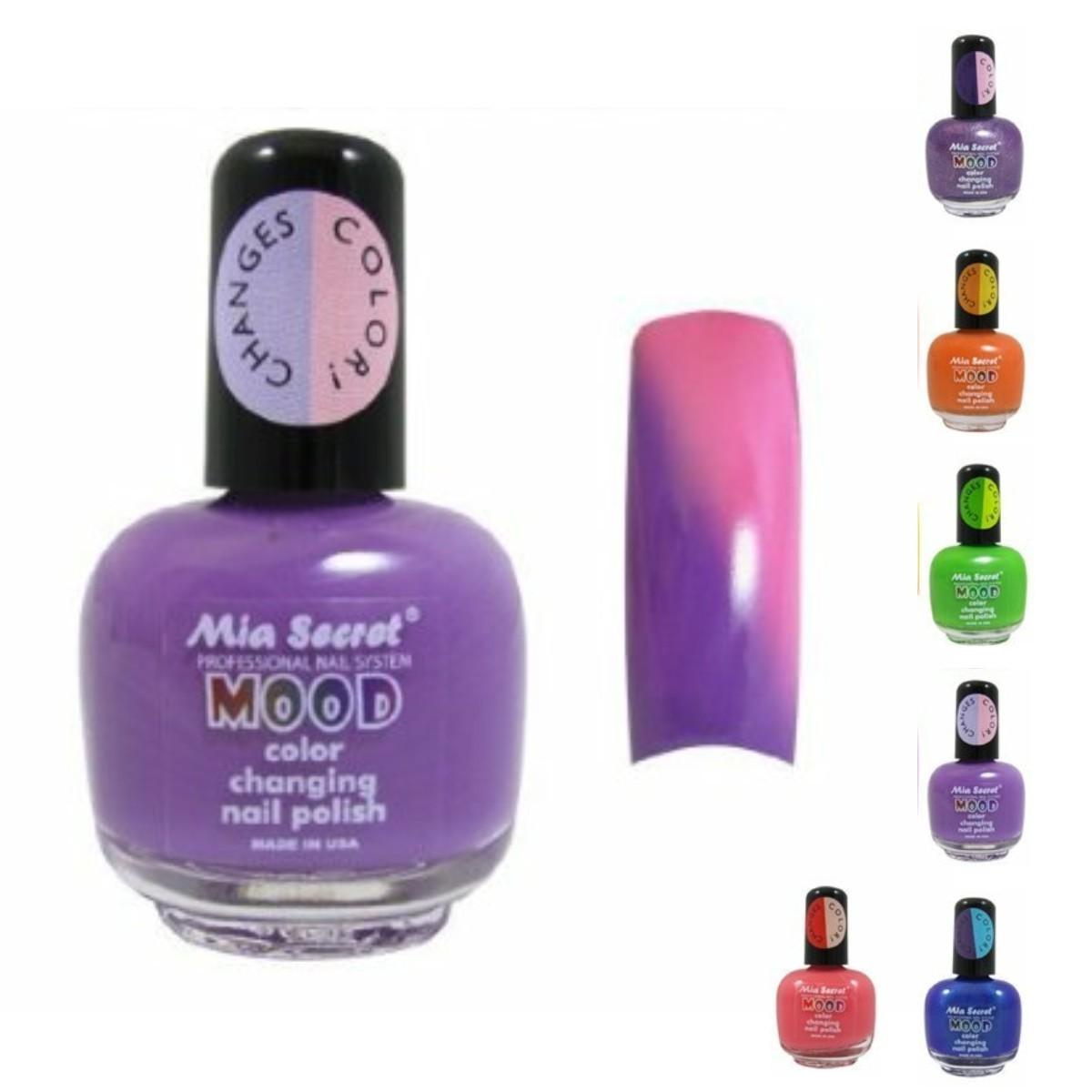 Esmalte para Uñas Mia Secret Mood cambia de color con la temperatura