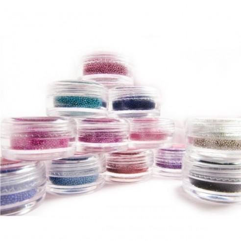 Kit x 12 Decoración de Uñas Micro esferas caviar