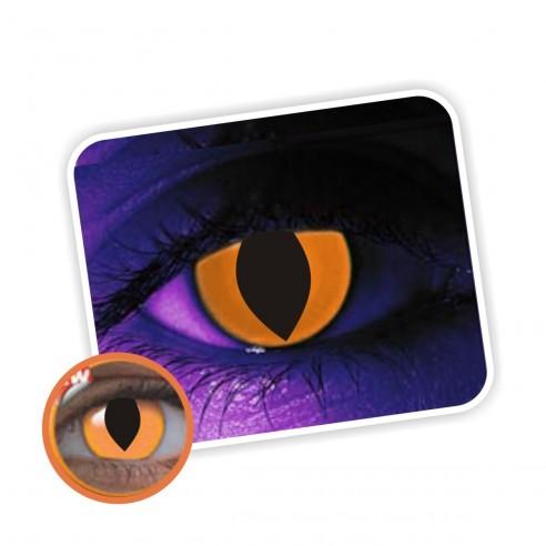 Lentes contacto UV Glow Crazy Neón Gato Naranja