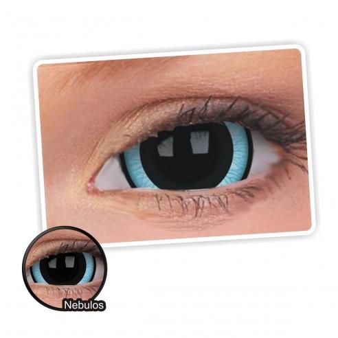 Lentes de contacto Mini Sclera Lens Crazy, Nebulos, Lentes Halloween y Efectos de Cine Nebulosa