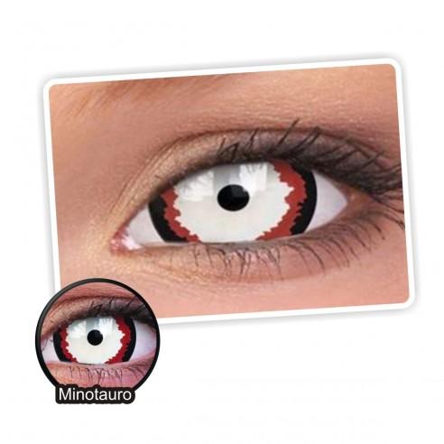 Lentes de contacto Mini Sclera Lens Crazy, Minotauro, Lentes Halloween y Efectos de Cine Minotauro