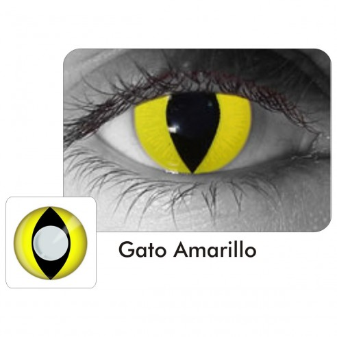 Lentes Locos Cat Yellow Crazy Lentes Gato Amarillo Halloween