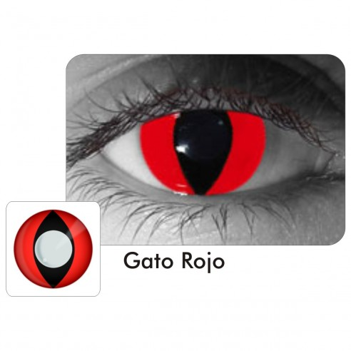 Lentes Locos Gato Rojo Cat Red Crazy Lentes Halloween