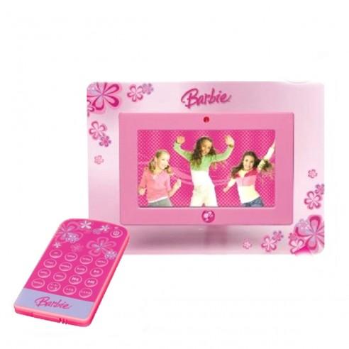 """PortaRetratos Digital Barbie de 7"""" + Control Remoto y Memoria"""