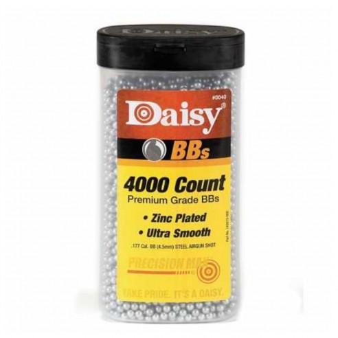 Balines BBs Daisy Niquelados 4.5mm AirSoft (Tarro de 4000 unidades)