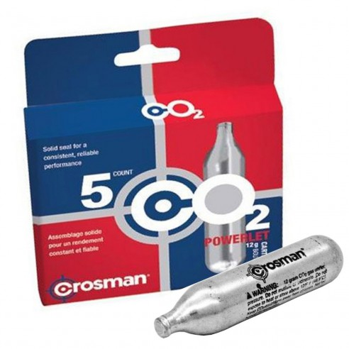 5 Pipetas de Aire Comprimido CO2 Crosman 12 Gr (paq x 5 unidades)