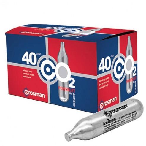 40 Pipetas de Aire Comprimido CO2 Crosman 12 Gr (paq x 40 unidades)
