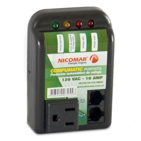 Protector de Voltaje 120V/10A Compumatic